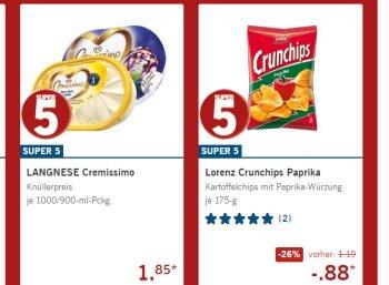 Lidl: Lagnnese Cremissimo und Lorenz Crunchips zu Schnäppchenpreisen
