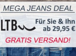 Jeansdirect: LTB-Jeans ab 29,95 Euro frei Haus