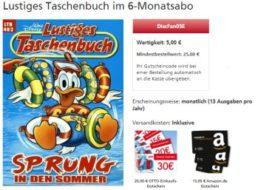 """Deutsche Post: Halbjahresabo """"Lustiges Taschenbuch"""" mit Gutschein über 20 Euro"""