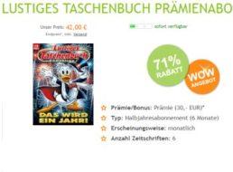 Lustiges Taschenbuch: Halbjahresabo für 42 Euro mit Barpärmie von 30 Euro