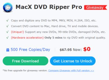Gratis: MacX DVD Ripper Pro für kurze Zeit komplett gratis