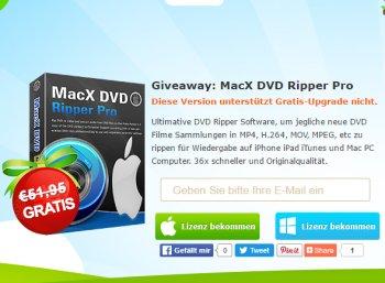 """Exklusiv: """"MacX DVD Ripper Pro"""" im Wert von 52 Euro komplett gratis"""