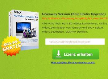"Exklusiv: ""MacX Video Converter Pro"" komplett gratis"