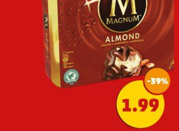 Magnum-Eis im Viererpack für 1,99 Euro