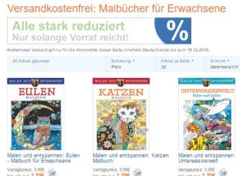 Terrashop: Malbücher für Erwachsene ab 1,99 Euro frei Haus