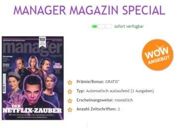 Manager Magazin: Drei Ausgaben für 5,95 Euro, Abo endet automatisch