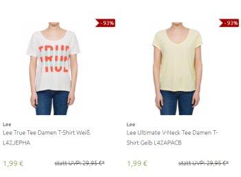 Outlet46: Marken-T-Shirts von Lee, Diesel und anderen ab 1,99 Euro frei Haus