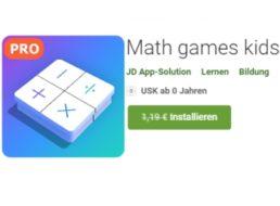 """Gratis-App: """"Math Game Kids"""" im Wert von 1,19 Euro für kurze Zeit kostenlos"""