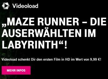"""Gratis: """"Maze Runner"""" Teil 1 bei Videoload zum Nulltarif für Telekom-Kunden"""
