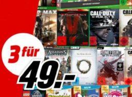 Mediamarkt: Drei Games für 49 Euro für wenige Tage