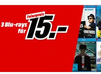 Mediamarkt: Drei Blu-rays nach Wahl für 15 Euro