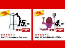 Mediamarkt: Küchenartikel im Outlet ab 1,50 Euro