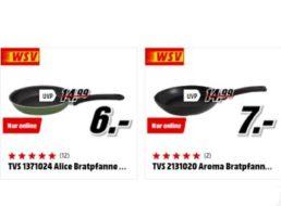 Mediamarkt: Pfannen ab sechs Euro inklusive Versandkosten