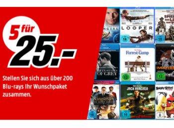 Mediamarkt: Fünf Filme nach Wahl für 25 Euro