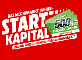 Mediamarkt: Gutscheine im Wert von bis zu 500 Euro zum Kauf geschenkt