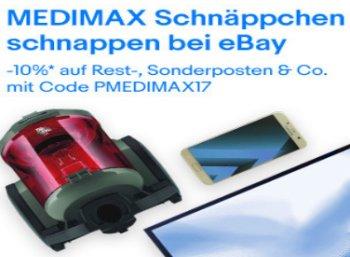 Medimax: 10 Prozent Rabatt im Ebay-Outlet
