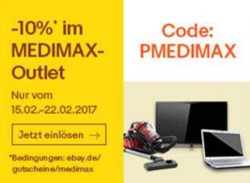 Medimax: Restposten mit zehn Prozent Extra-Rabatt bei Ebay