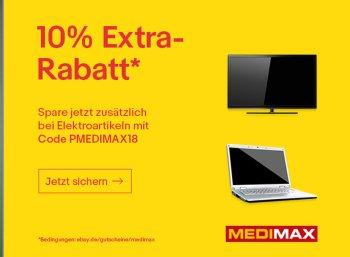 Medimax: 10 Prozent Rabatt auf reduzierte Technik-Restposten