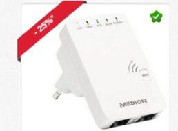 Medion: WLAN-Repeater für 14,99 Euro frei Haus und weitere Schnäppchen