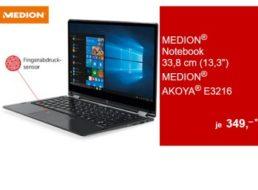 Aldi-Notebook: Convertible Medion Akoya E3216 mit Office 365