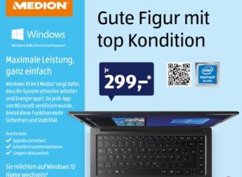 Aldi-Notebook: Medion Akoya E4254 mit einfacher SSD-Nachrüstung für 299 Euro