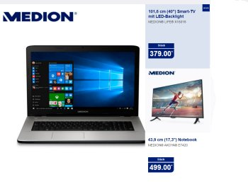 Aldi-Nord: Medion Akoya E7420 ab 25. Juli für 499 Euro