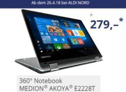 Aldi-Convertible: Medion Akoya E2228T wieder für 279 Euro im Angebot