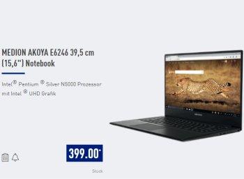 Aldi-Notebook: Medion Akoya E6246 im Norden für 399 Euro