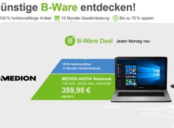 Aldi-Notebook: Medion Akoya E7420 jetzt als B-Ware für 359,95 Euro frei Haus