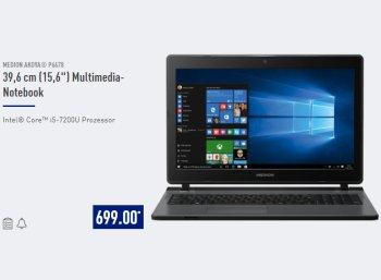 Aldi-Notebook: Medion Akoya P6678 für 699 Euro bei Aldi-Nord