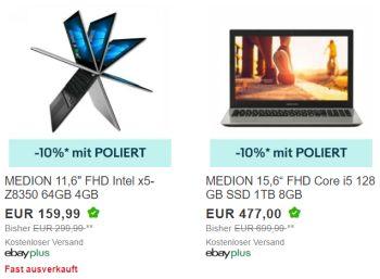 Ebay: Medion Akoya S6429 als B-Ware für 429,30 Euro frei Haus