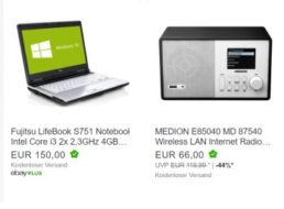 Ebay: WLAN-Radio mit DLNA als B-Ware für 59,40 Euro frei Haus
