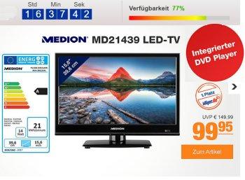 Plus: Medion-TV mit Triple-Tuner und DVD-Player für 99,95 Euro