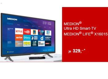Aldi-Süd: Ultra-HD-TV mit DVB-T2 und WLAN für 329 Euro