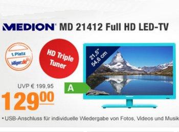 Plus: Medion-TV mit DVB-T2 und Full-HD für 129 Euro frei Haus