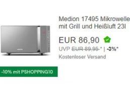 Ebay: Medion-Mikrowelle mit Heißluft und Grill für 78,21 Euro frei Haus