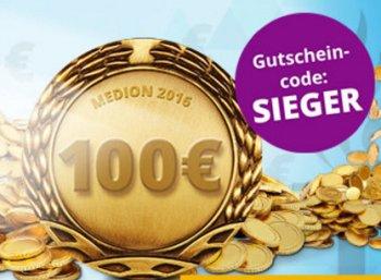 Medion: 100 Euro Rabatt für einen Tag ab 899 Euro Bestellwert