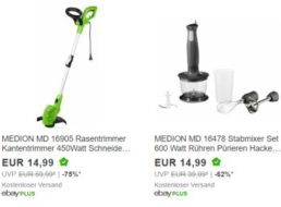 Ebay: Medion-Schnäppchen ab 14,99 Euro frei Haus