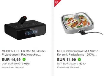 Medion: Sale bei Ebay mit Gratis-Versand und Artikeln ab 7,95 Euro
