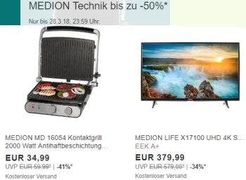 Medion: Sale bei Ebay mit Technik-Artikeln ab 14,99 Euro frei Haus