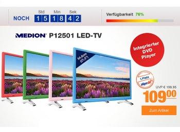 Medion: LED-TV mit Triple-Tuner und DVD-Player für 109 Euro frei Haus