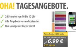 CM3: Powerbank mit 2200 mAh für 6,99 Euro frei Haus via Meinpaket