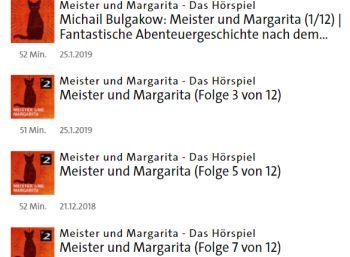 """Gratis: Hörspiel """"Meister und Margarita"""" bei der ARD zum Download"""