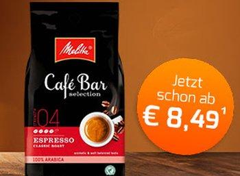 Kaffeevorteil: 3 Kilo Melitta-Bohnen plus Trüffelschokolade für 29,42 Euro frei Haus