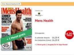 Men's Health: Drei Ausgaben für 16,20 Euro mit Scheck über 16,20 Euro