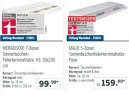 """Lidl: Mit """"gut"""" bewertete Federkernmatratze für 99,99 Euro im Angebot"""
