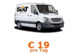 Sixt: Mercedes Sprinter für 19 Euro am Tag mieten