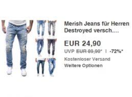 Ebay: Merish-Jeans Destroyed für 24,90 Euro frei Haus