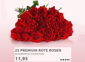 Mifora: 25 rote Rosen für 16,90 Euro frei Haus