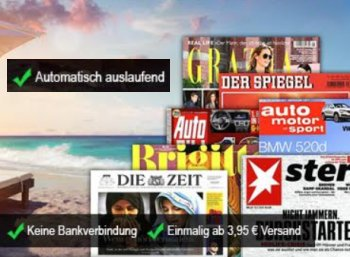 Mini-Abo: Sieben verschiedene Zeitschriften mit automatischem Ende ab 3,95 Euro